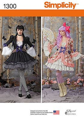 Simplicity Pattern 1300 Halloween Costumes Victoriana You Choose Sizes - Halloween Costumes Patterns