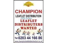 leaflets distributor Wanted