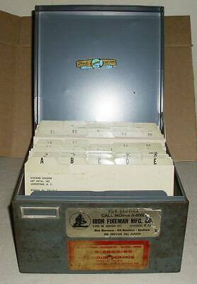 Vtg Steelmaster Metal Index Card Cabinet Drawer File Holder W. Cards Steel Art