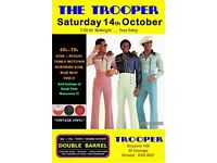 SATURDAY 14th OCTOBER - 60s 70s SOUL / REGGAE / MOTOWN / DISCO with DOUBLE BARREL - ST GEORGE
