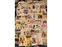 JOB LOT OF 50 SEWING PATTERNS, VINTAGE (FROM 1960's) & MODERN DAY (lot 2)