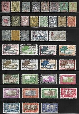 Nice Collection of Old Stamps - New Caledonia . . . . . . . (4 pages)