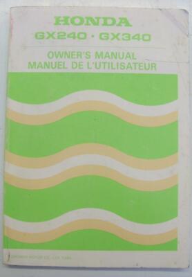 Honda GX240 - GX340 1985 36ZE2020 Owners Handbook Multilingual