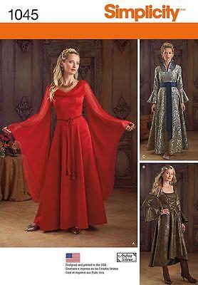 Simplicity Sewing Muster Misses' Fantasie Kostüme Größe 6 - 22 1045