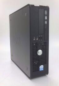WINDOWS 7 DELL OPTIPLEX 760 DESKTOP COMPUTER DUAL CORE PC - 4GB RAM - 250GB