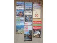 22x geography magazines from the 1970s, The Geographical, Geo, and Beautiful British Columbia