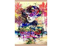 Beautiful Sugar Skull Canvases