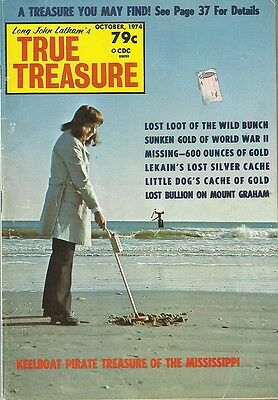 True Treasure Magazine October 1974 lost buried gold coins #18
