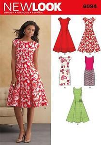 NEW LOOK SEWING PATTERN MISSES' 1940s VINTAGE  BIAS CUT DRESS 4-16 6094 SALE