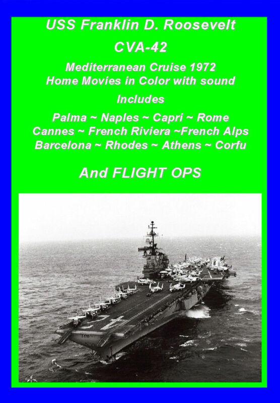 USS FRANKLIN D ROOSEVELT CVA-42 1972 MED CRUISE VIDEO