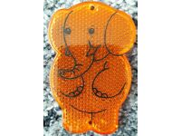 Stocking filler - Cute orange elephant child's reflector – post or collect