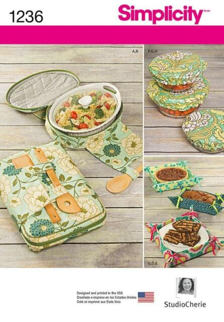 SIMPLICITY SEWING PATTERN Casserole Carriers, Gifting Baskets  Bowl Covers 1236