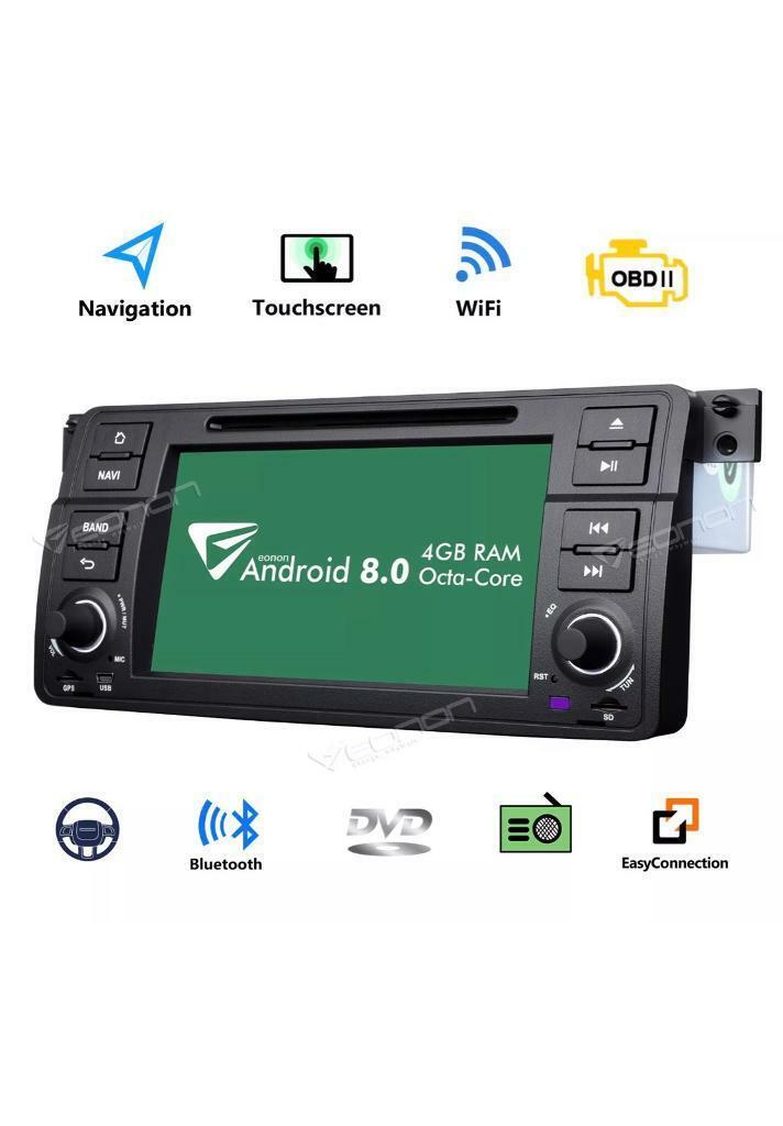 Eonon Android 8 Indash Car Digital Audio Bmw 3 e46,Bmw M3 | in Redbridge,  London | Gumtree