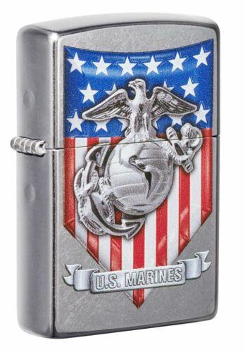 Zippo Windproof U.S. Marine Corp. Lighter With USMC Logo, 49317, New In Box