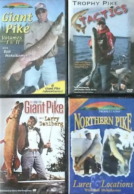 Pike Fishing Strategies Lure Locations Trophy Patterns Tactics 4 DVD Lot NEW