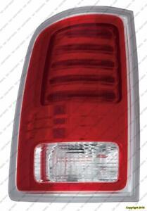 Tail Light Driver Side Chrome Laramie/Longhorn Models High Quality Dodge Ram 2013-2014