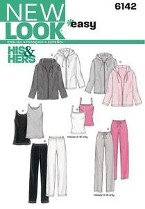 NEW LOOK SEWING PATTERN Unisex Activewear JACKET PANTS CAMISOLE ALL SIZES  6142