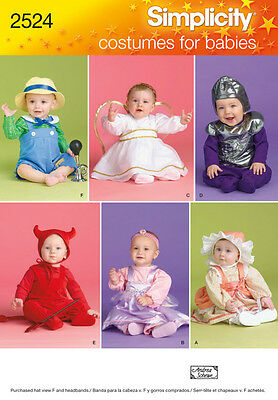 Sew & Make Simplicity 2524 / 2835 SEWING PATTERN - Baby ANGEL ALIEN COSTUMES