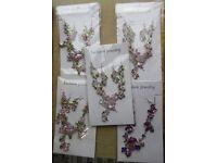 5 x JEWELLERY SETS Enamel & Rhinestone Necklace & Earrings - NEW