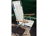 Reclining Garden beach deck chair