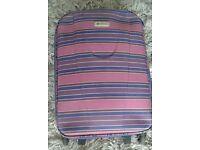Purple Striped Suitcase, 21''
