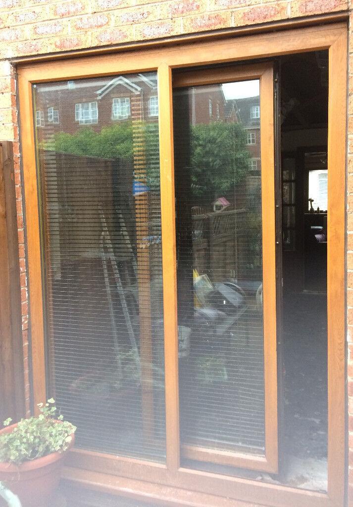 Patio Doors Used Tilt Slide Golden Oak In Eccles Manchester