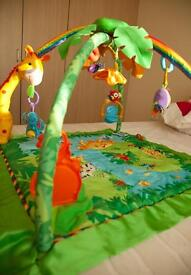 Fisher Price rainforest melodies and lights deluxe activity gym and mat