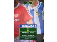 Sheff Wed League Cup Final Programme, ticket & The Star (1991) plus 6 Wednesday programmes from '60s