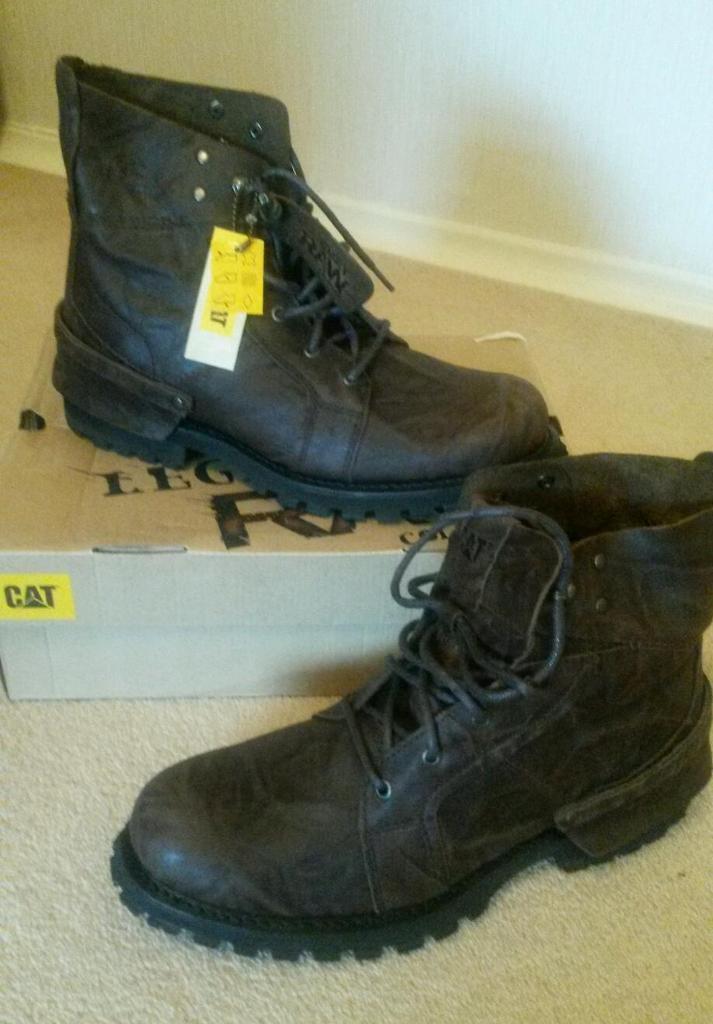 BNIB BROWN CAT BOOTS size 11