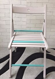 Chalk painted folding chair