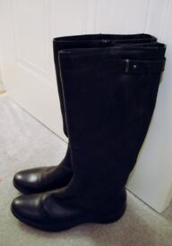 Real leather boots, black, size 6. Supple leather, rubber grip sole. new Cost £55