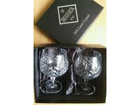 Bohemia 24% lead crystal brandy glasses