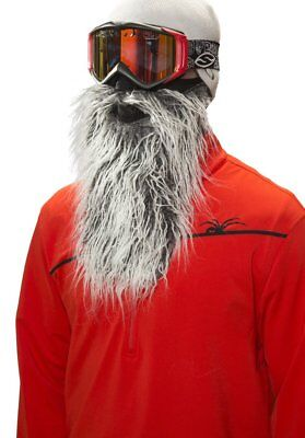 Beardski Biker Grey Insulated Thermal Ski Warm Winter Beard Face Mask NEW +