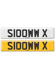 Private registration number