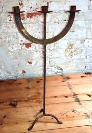 Industrial Looking Iron Candle Arbre Candlestick - Indoor or Outdoor