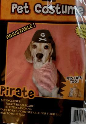 BRAND NEW IN PACKAGE Momentum Brand Pet Pirate Costume, VERY CUTE AND SIMPLE