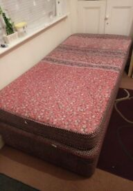 Single bed.