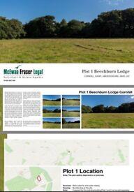 Outline planning permission 2 building plot or 1 large builibg plot for sale Cornhill banff