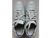 Camper Women's Pelotas shoes, patent leather, pastel/light green, UK 4/EU 37