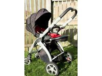 Casualplay KUDU 4 pushchair+Casualplay carry cot METROPOL