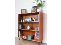 Vintage Clausen & Son Bookcase Sideboard Teak Danish Hairpin legs G Plan Mid Century