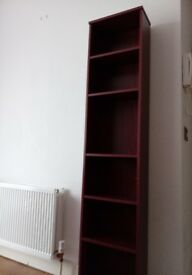 DVD, CD and Books Mahogany Storage and Shelving Unit