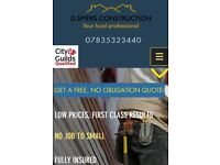 D.spiers Construction. Fully qualified, Fully insured, Roofing, Gutter systems, Groundwork