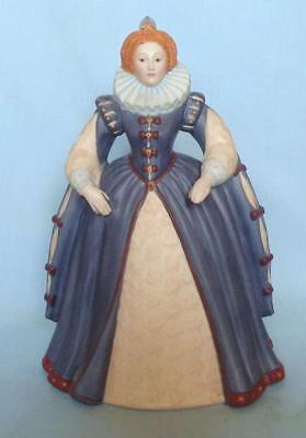 HAND PAINTED PORCELAIN FIGURINE OF ELIZABETH I BY  FRANKLIN PORCELAIN