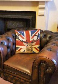 Thomas Lloyd Chesterfield Club (original) Chair Rare Brown