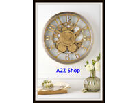 Hometime Gold Wall Clock