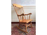 Solid Pine Wooden Rocking Farmhouse Fireside Nursery Chair