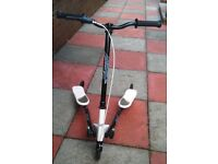 Fliker 3-wheel black and white scooter in good condition