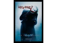 "JOKER /""Why So Serious?/"" POSTER 24x36 The Dark Knight Batman Aquaman"