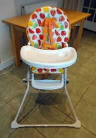Mothercare high chair in excellent condition. Very light and stable. Folds flat for easy storage